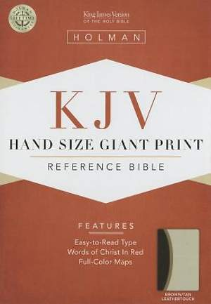 Hand Size Giant Pring Reference Bible-KJV