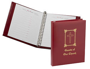 Guest of Our Church Binder Red Simulated Leather