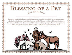 St. Francis Blessing of a Pet Certificate - Download