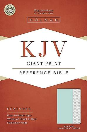 KJV Giant Print Reference Bible, Mint Green Leathertouch, Indexed