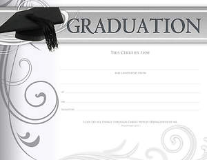 Graduation Certificate, Package of 6