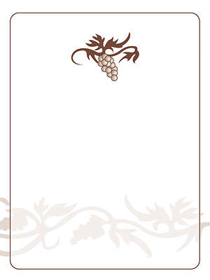 Grape Cluster Bookplate - Blank [Pack of 15]