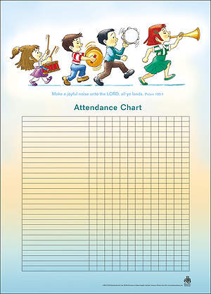 Music-Children's Attendance Chart