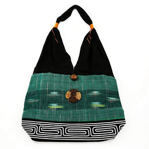 Thai Cloth Bag - Large Green