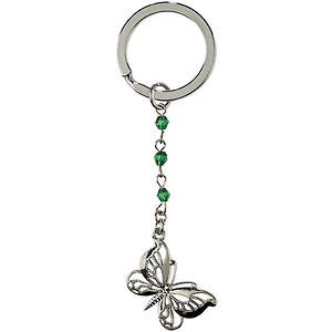 Mom Butterfly Keyring