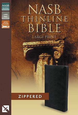 NASB Thinline Zippered Collection Bible, Large Print