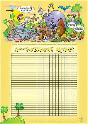 Adam Names the Animals Attendance Chart