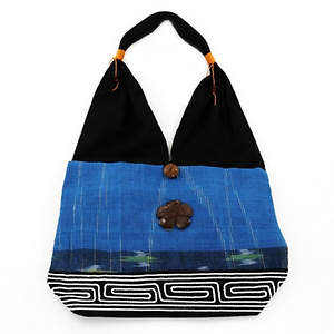 Thai Cloth Bag - Large Blue
