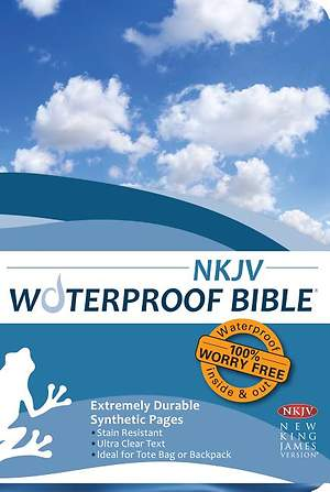 Waterproof Bible-NKJV-Blue Wave