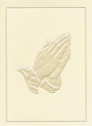In Memory Gift Acknowledgement Cards - Praying Hands