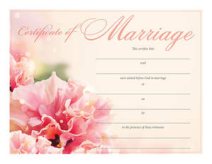 Certificate of Marriage – Floral Design - Download