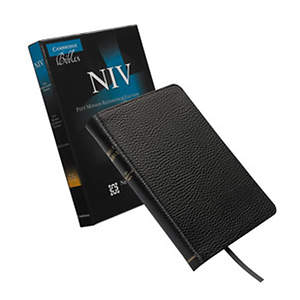 NIV Pitt Minion Reference Black Calf Split Leather Bible
