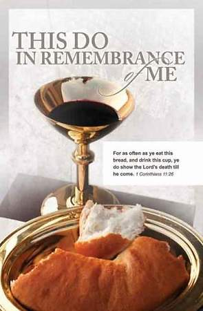 This Do In Remembrance Gold Chalice Bulletin, Regular Size (Package of 100)