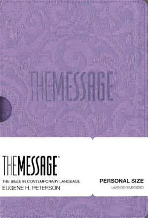 Message Personal Size Embossed Lavender