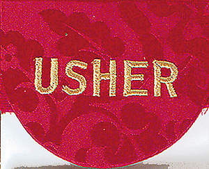 Pocket Usher Badge with word