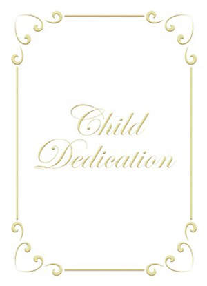 Certificate Child Dedication Psalm 127:3 Package of 6