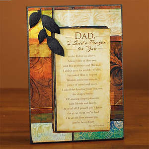 """Dad, I Said a Prayer for You"" Plaque"