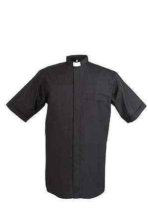 Reliant Short Sleeve Clergy Shirt with Tab Collar