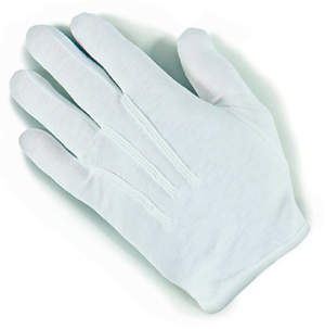 Plastic Dot Handbell White Large Gloves