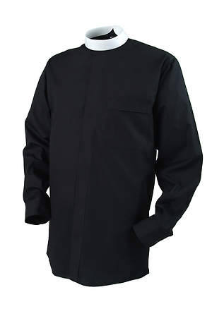 Reliant Long Sleeve Clergy Shirt with Neckband Collar