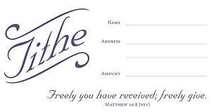 Tithe Offering Envelope - Matthew 10:8 Package of 100