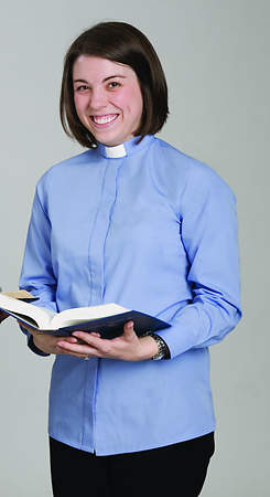 Reliant Long Sleeve Clergy Blouse with Tab Collar