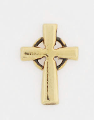 Gold Plated Lapel Pin - Celtic Cross