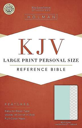 KJV Large Print Personal Size Reference Bible, Mint Green Leathertouch, Indexed