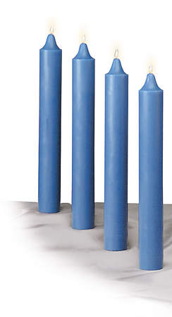 Advent Candle 12 X 1 1/2 Blue (Set of 4)