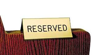 Reserved Pew Sign Gold
