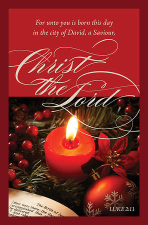 Christmas Bulletin - Luke 2:11 For Unto You (Pack of 100)