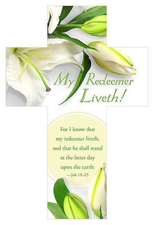 Easter Die-Cut Bookmark - My Redeemer Liveth - Job 19:25 KJV (Pkg 25)
