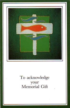 To Acknowledge Your Memorial Gift Card (Package of 25)