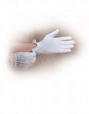 Gloves Concert White Extra Large