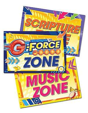Vacation Bible School (VBS) 2015 G-Force Activity Center Signs & Publicity Pak