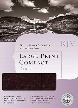 KJV Large Print Compact Reference Bible - Snap-Flap
