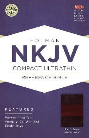 NKJV Compact Ultrathin Bible, Saddle Brown Leathertouch