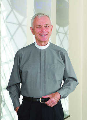 Signature Long Sleeve Clergy Shirt with Neckband Collar Gray - 15