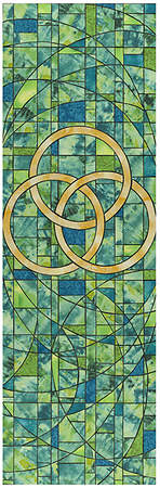 Symbols of Faith Series Stained Glass Trinity Banner 2` X 6`
