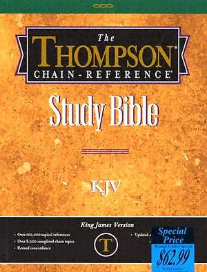 King James Version Bible Thompson Chain Reference Study