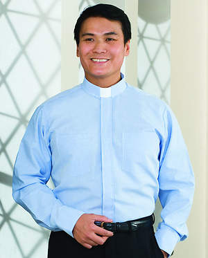 Signature Long Sleeve Clergy Shirt with Tab Collar