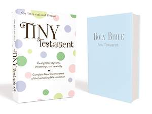 NIV Tiny Testament Bible - Leather Look Blue