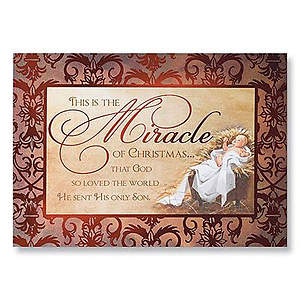 This is the Miracle Boxed Card - Box of 20