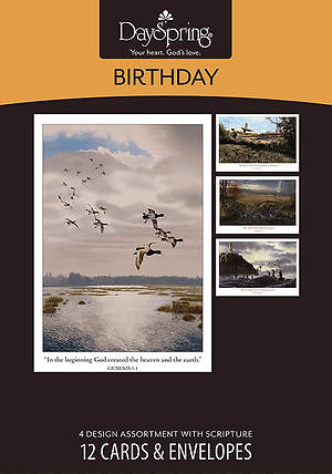 Creation's Splendor - Birthday Boxed Cards - Box of 12
