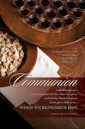 Communion Bulletin When We Remember Him Regular (Package of 100)