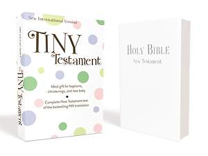 NIV Tiny Testament Bible - Leather Look White
