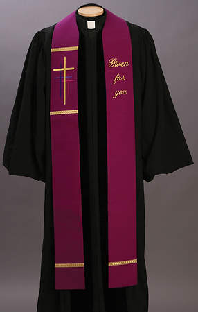 Word Series Purple Lent Stole