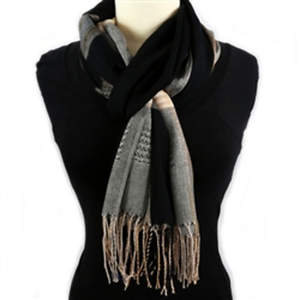 Thai Lightweight Shawl - Black