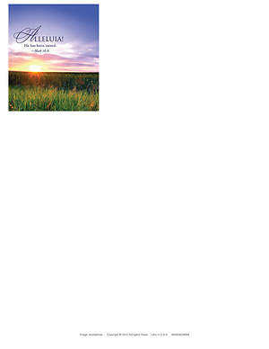 Alleluia! Easter Sunrise Letterhead 2013 (Package of 50)