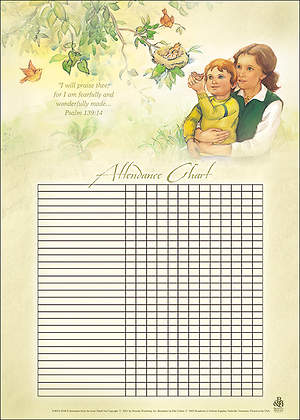 Wonderfully Made Attendance Chart